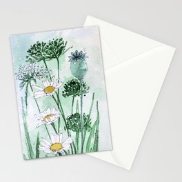 Thistles and Daisies Stationery Cards