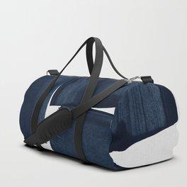 Minimalist Painting Blue I, Navy Decor Duffle Bag