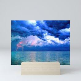 Majestic Rain Pink Lightning Mini Art Print