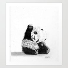 The Friendly Panda  Art Print