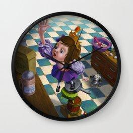 Princess Cupcake Wall Clock