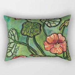 In the Garden ~ Nasturtium Rectangular Pillow