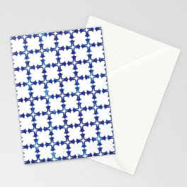 blue morrocan dream no1 Stationery Cards