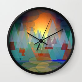 Alpine Sunset Wall Clock