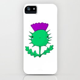 Kawaii Cute Scottish Thistle iPhone Case