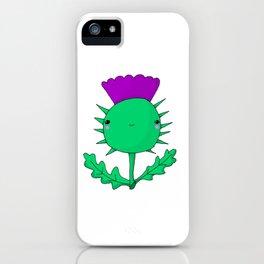 Kawaii Cute Scottish Thistle iPhone Case
