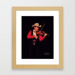 Pioneer Fiddler Framed Art Print