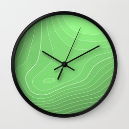 Mount Rainier Topography Wall Clock