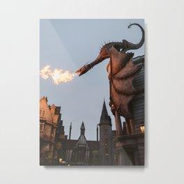 Diagon Dragon Metal Print