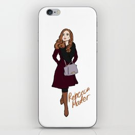 Rebecca Mader (strolling in Chicago, 2018) iPhone Skin