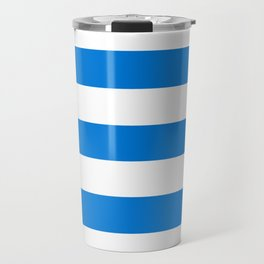 Microsoft Edge blue - solid color - white stripes pattern Travel Mug