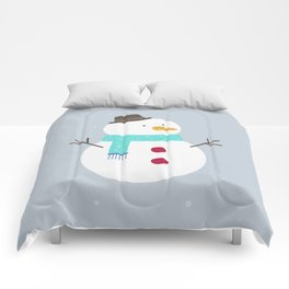 Snow winter man Comforters