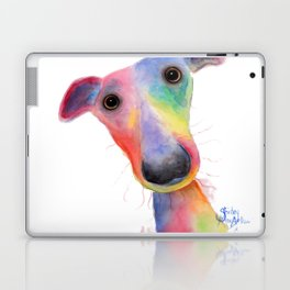 Nosey Dog Whippet / Greyhound ' HANK ' by Shirley MacArthur Laptop & iPad Skin