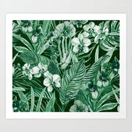 Emerald Tropical Bohemian Art Print