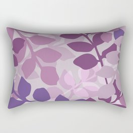Ultra Violet Purple Lavender Leaves Pattern Rectangular Pillow