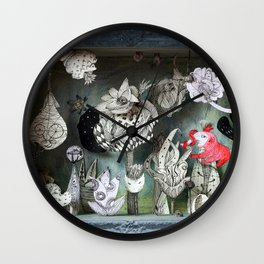 The Garden of Forgotten Happiness diorama Wall Clock