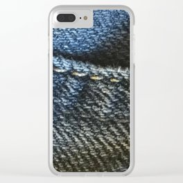 Jeans Fabric Clear iPhone Case