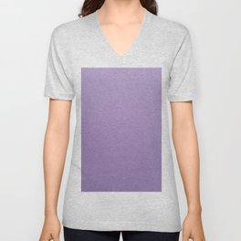 Light Purple Unisex V-Neck