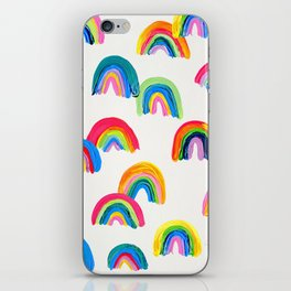 Abstract Rainbow Arcs - White Palette iPhone Skin