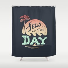 Seas The Day Shower Curtain