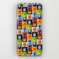 calcifer iPhone & iPod Skins featuring Miyazaki's by badOdds