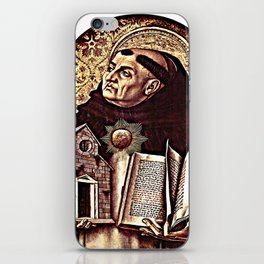 Altar of San Domenico in Ascoli, polyptych, St. Thomas Aquinas iPhone Skin