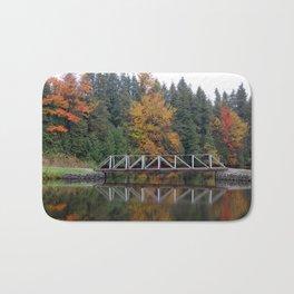 Reflection of Fall Colours Bath Mat