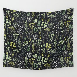 Green herbs Wall Tapestry