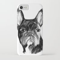 french bulldog iPhone & iPod Cases featuring French Bulldog by James Peart