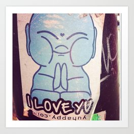 I LOVE YOU Buddha Art Print