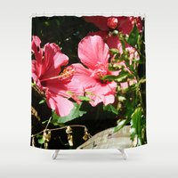 hibiscus Shower Curtains featuring Hibiscus by WonderfulDreamPicture
