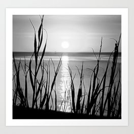 Sunset in the Sea Art Print