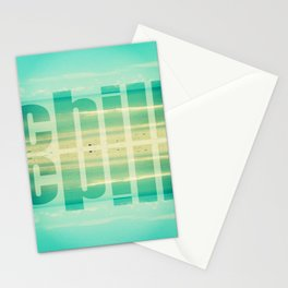 Chill - Photograph - Ocean, beach, waves Stationery Cards