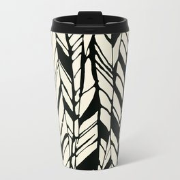 black and white feather texture Travel Mug