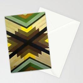 Navaho Vibes Geometric Pattern - Black Brown Yellow Stationery Cards