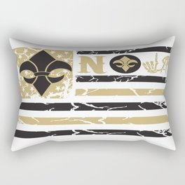 NOLA FLAG BLACK & GOLD Rectangular Pillow