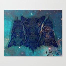 illuminated tigers Canvas Print