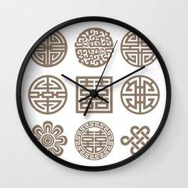 Korean Art : Dancheong Pattern #2 Wall Clock