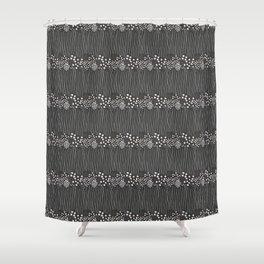 Geometric black rain Shower Curtain