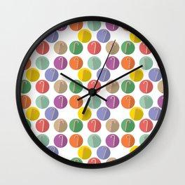 Xmas Candy canes Wall Clock
