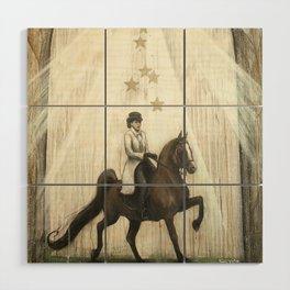 Star Horse Wood Wall Art