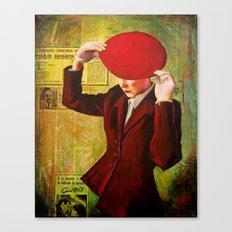 Red Beret Canvas Print