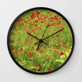 Poppyflower VII Wall Clock