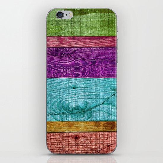 Colorful Wood  iPhone Skin