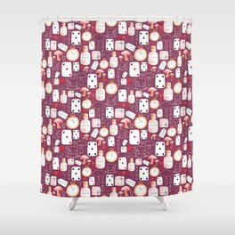 Alice in Wonderland - Purple Madness Shower Curtain