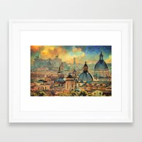 rome Framed Art Prints featuring Rome by Taylan Soyturk