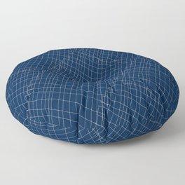 Japanese shibori dark blue indigo sapphire white Floor Pillow