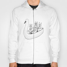 4 cats on a boat Hoody