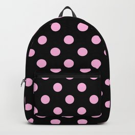 Polka Dots (Pink & Black Pattern) Backpack