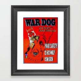 War Dog Framed Art Print